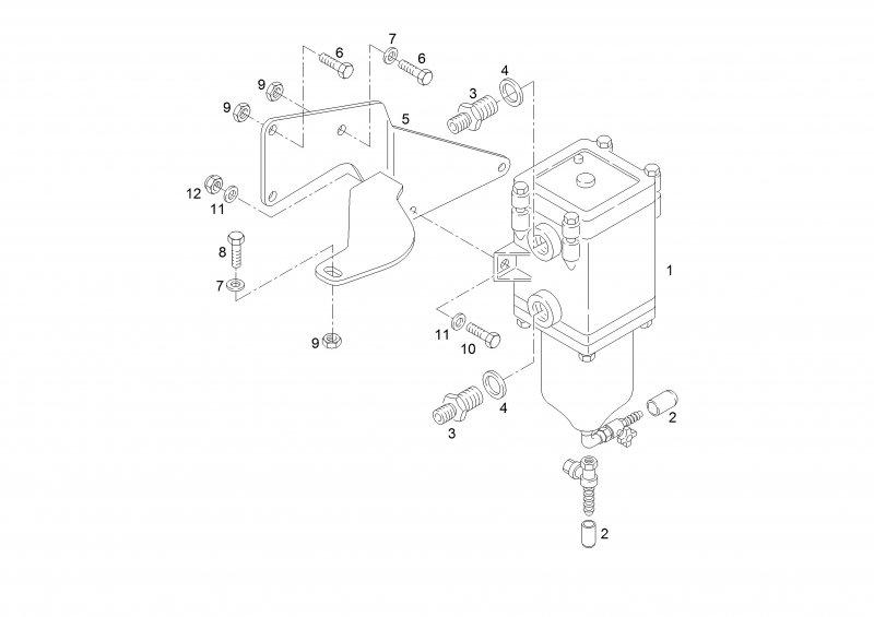 Фильтр грубой очистки топлива (Сепаратор)